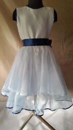 Нарядное платье на девочку рост 128 с нежно розовой юбкой, нижняя юбка из белого. Одесса, Одесская область. фото 3