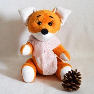 Мягкая игрушка  из плюша хенд мейд лисичка Алиса. Киев. фото 1