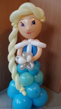 Эльза Холодное сердце из воздушных шаров. Харьков. фото 1