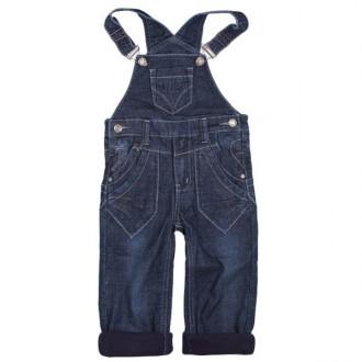 Комбинезон джинсовый утеплённый для мальчика м. 7349. Хмельницкий. фото 1