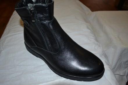 Продам новые кожаные мужские зимние ботинки отличное качество, Украина. Верхнеднепровск. фото 1
