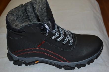 Продам новые кожаные зимние ботинки на мальчиков подростков Размеры 36,37,38,39.. Верхнеднепровск. фото 1
