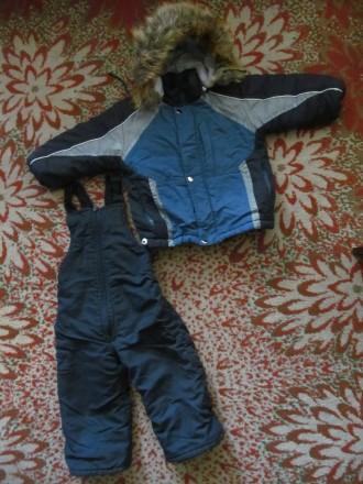 Тёплый зимний комбинезон мальчику на 2-2,5 года. Штаны длинна -73 см; рукав длин. Полтава, Полтавская область. фото 2