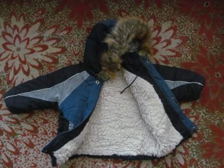 Тёплый зимний комбинезон мальчику на 2-2,5 года. Штаны длинна -73 см; рукав длин. Полтава, Полтавская область. фото 3