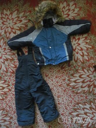Тёплый зимний комбинезон мальчику на 2-2,5 года. Штаны длинна -73 см; рукав длин. Полтава, Полтавская область. фото 1