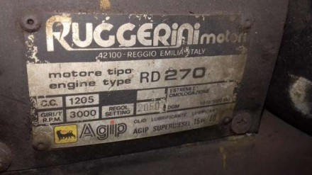 Передняя стенка двигателя RUGGERINI RD270.. Одесса. фото 1