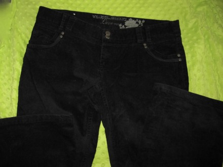 Брюки джинсы вельветовые черные New Look р.16. Полтава. фото 1
