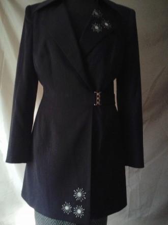 Длинный женский пиджак р-р 44. Одесса. фото 1