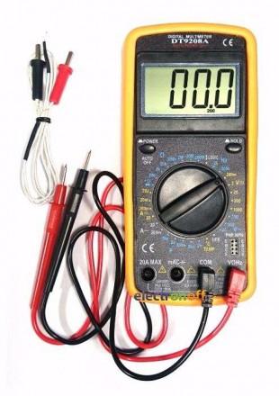 Характеристики Мультиметр универсальный DT9208A Постоянное напряжение: До 1000 . Полтава, Полтавская область. фото 2