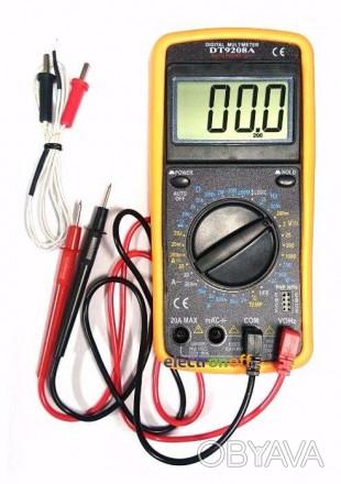 Характеристики Мультиметр универсальный DT9208A Постоянное напряжение: До 1000 . Полтава, Полтавская область. фото 1