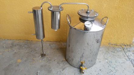 Самогонный аппарат 40 литров с сухопарником, Нержавейка, дистиллятор. Киев. фото 1