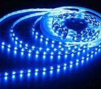 Светодиодная лента 3528 Blue 60 12V без силикона. Полтава. фото 1
