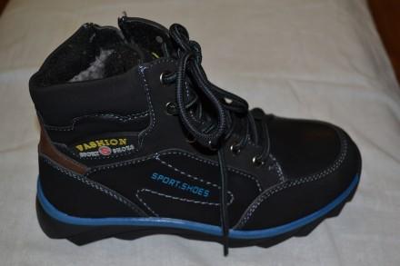 Продам новые зимние ботинки на мальчиков-подростков. Размеры 32,33,34,35.. Верхнеднепровск. фото 1