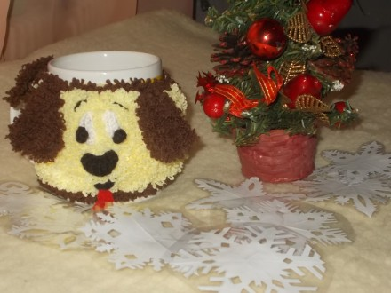 Продам чехол-грелку на кружку, символ Нового 2018 года - Собака. Это отличный н. Чернигов, Черниговская область. фото 2