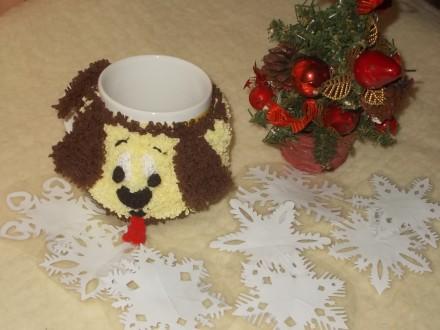 Продам чехол-грелку на кружку, символ Нового 2018 года - Собака. Это отличный н. Чернигов, Черниговская область. фото 3