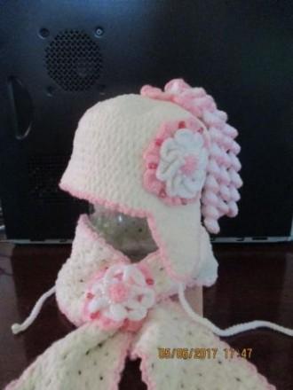 Вязаная шапка и шарф. Николаев. фото 1