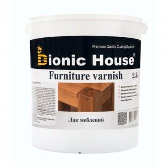 Мебельный лак акриловый на водной основе Bionic-House 2,5 л.. Киев. фото 1