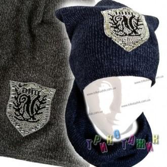 Комплект Шапка и хомут Logo. Хмельницкий. фото 1