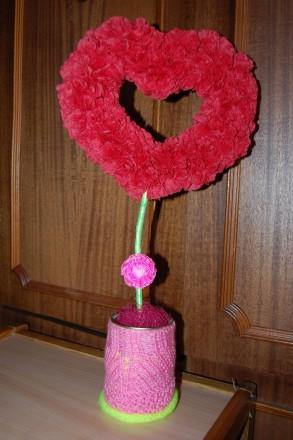 Топиарий ручной работы в виде сердца. Прекрасно подходит для подарка.. Мариуполь, Донецкая область. фото 3