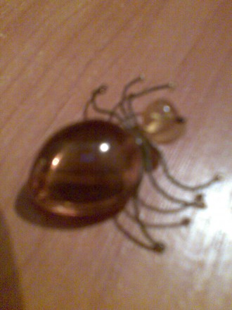 Брошка янтарная паук Винтаж. Херсон. фото 1