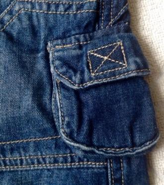 Джинсовые штаны 3/4 (удлиненные шорты) для мальчика.  Размер 68 (длина 36 см. О. Одесса, Одесская область. фото 7