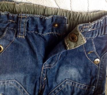 Джинсовые штаны 3/4 (удлиненные шорты) для мальчика.  Размер 68 (длина 36 см. О. Одесса, Одесская область. фото 4