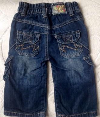 Джинсовые штаны 3/4 (удлиненные шорты) для мальчика.  Размер 68 (длина 36 см. О. Одесса, Одесская область. фото 3