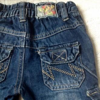 Джинсовые штаны 3/4 (удлиненные шорты) для мальчика.  Размер 68 (длина 36 см. О. Одеса, Одесская область. фото 5