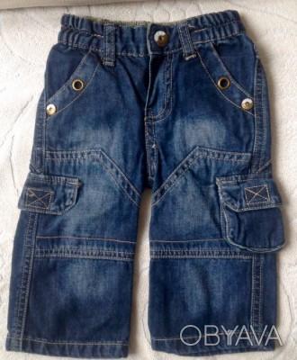 Джинсовые штаны 3/4 (удлиненные шорты) для мальчика.  Размер 68 (длина 36 см. О. Одесса, Одесская область. фото 1