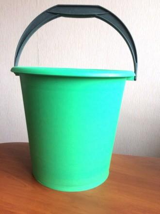 Ведро пластиковое 10л цветное. Харьков. фото 1