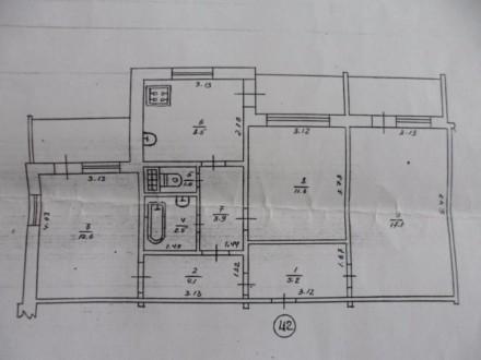 3-х комнатная квартира в районе Амосова (Семашко). Нежин. фото 1