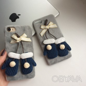 Чехол пластиковый с варежками на iPhone 6/6S, 7