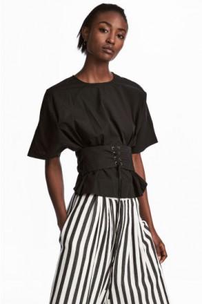 0aa042518d4 Блузка рубашка H M НОВАЯ черная Размер 38 (S) Италия. 630 ГРН торг. Киев