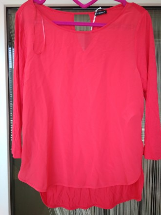 Блузка с рукавом 3/4 красная Новая MOTIVI Италия Размер S. Киев. фото 1