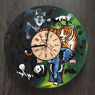 Яркие детские настенные часы с бесшумным кварцевым механизмом выполнены из натур. Киев, Киевская область. фото 4