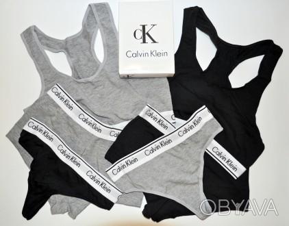 61f849004714d ᐈ Женское Белье Calvin Klein комплект (Топ, Стринги, Шортики) ᐈ ...