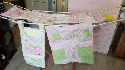 Комплект розовый на детскую кроватку. Ирпень. фото 1
