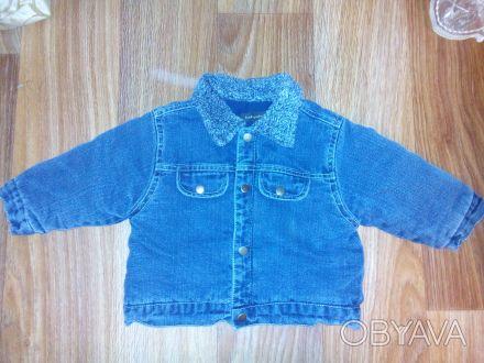 Куртка джинсовая babysting теплая на синтепоне на 6-12 мес, рост 74 см Состояни. Днепр, Днепропетровская область. фото 1