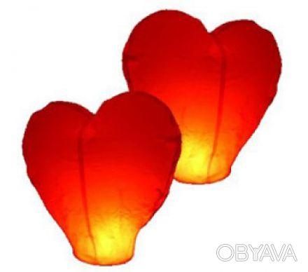 Небесные фонарики в форме сердца, купить летающие небесные фонарики.