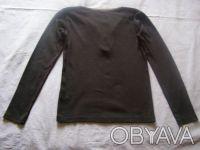 Черный свитерок с серой отделкой. Х/б трикотаж. длина-51 см длина рукава-49 см. Никополь, Днепропетровская область. фото 3