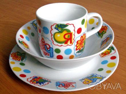 Предлагаем фаянсовую  детскую посуду. Вся посуда имеет сертификат качества и гиг. Днепр, Днепропетровская область. фото 1