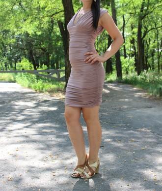 Платье бежево-розовое. Светловодск. фото 1