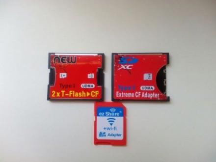 Адаптер CF на SD или micro SD, Compact Flash, переходник, Ez Share Wi-Fi. Харьков. фото 1