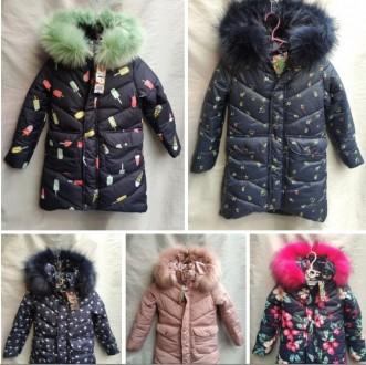Очень теплые зимние курточки от 116-146см для девочек, разные цвета!. Сумы. фото 1