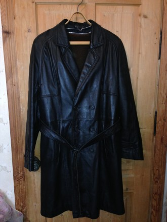 Кожаная мужская куртка- педжак для сезона осень-зима. Львов. фото 1