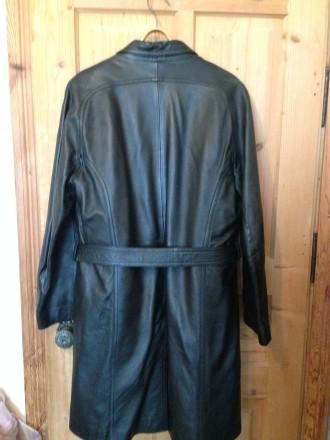 Кожаная удлинёная педжак-куртка с съемной подстёжкой из цигейки . Рукав  реглан 769d16fb76b70