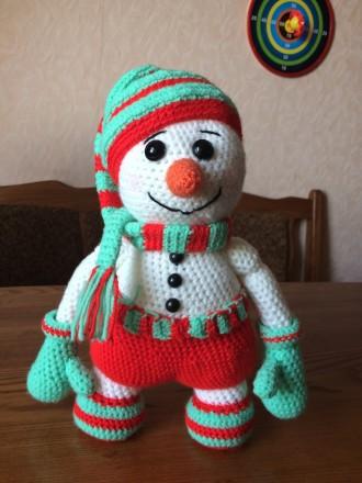 Вязаный снеговик Гномус. Николаев. фото 1