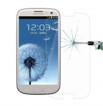 Защитное стекло Samsung Galaxy S3 i9300  9H+. Киев. фото 1