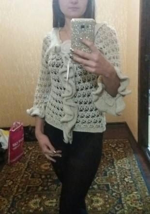 Красивая нарядная кофта/блуза с воланами, рюшами. Харьков. фото 1