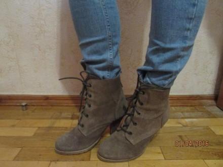 Женские натуральные замшевые ботиночки 38 размера, внутри натуральная кожа. На д. Сумы, Сумская область. фото 4